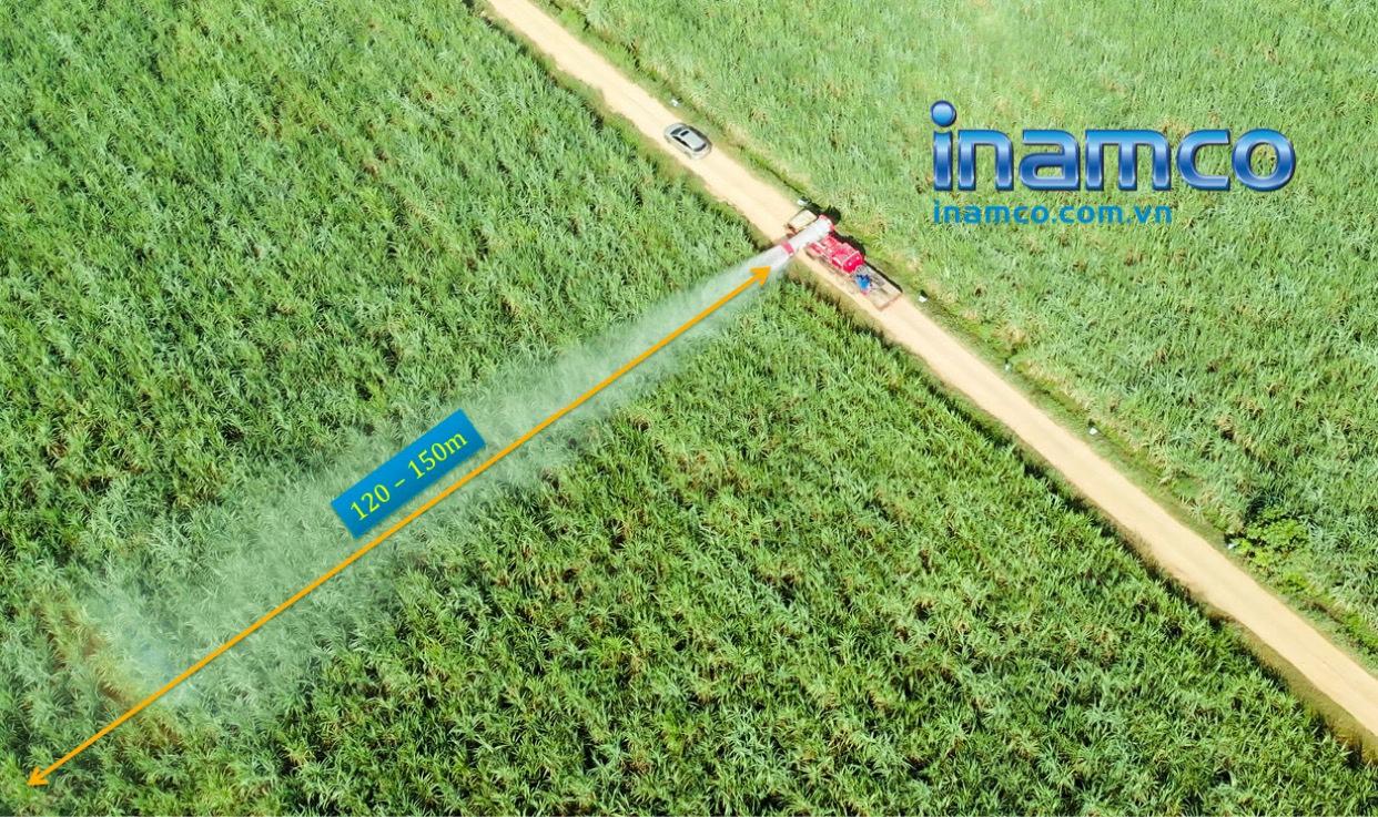 Máy Ecowide tầm phun xa lên tới 150m
